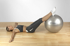 Exercice fitness ball
